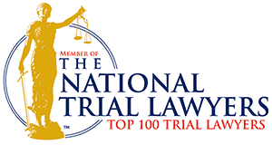 certification seal as a Member of The National Trial Lawyers Top 100 Trial Lawyers